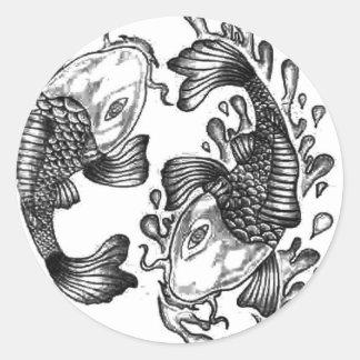Koi Fish Round Sticker