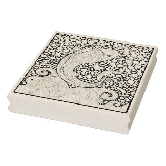 Koi Fish Rubber Stamp