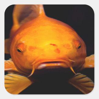 Koi Fish Square Sticker