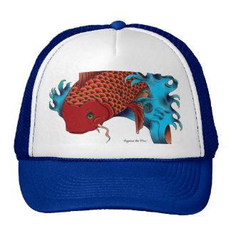 Koi fish tattoo design cap