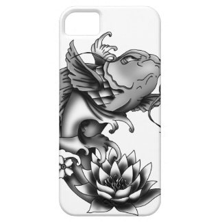 Koi fish tattoo design with lotus and cherry iPhone 5 cover