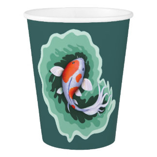 Koi Fish Themed Party Paper Cup