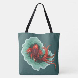 Koi Fish Themed Tote Bag