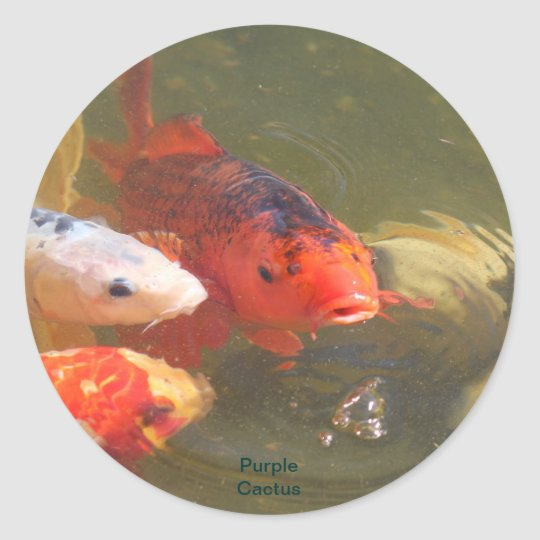 Koi Fish v.1 Classic Round Sticker