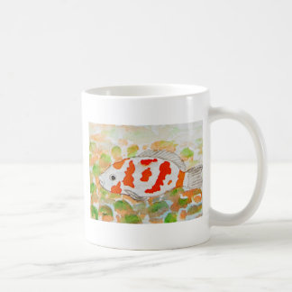 Koi fish watercolor art coffee mug