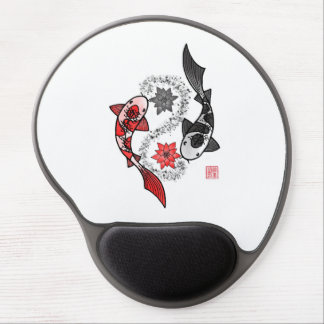 Koi Fish Yin Yang Gel Mouse Pad