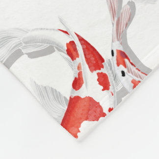 Koi Fleece Blanket