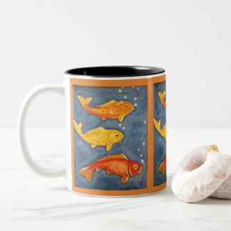 Koi Goldfish Art Orange Coffee Mug