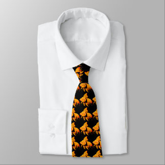 Koi Goldfishes on black background Tie
