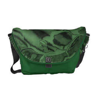 Koi (Green) Messenger Bag