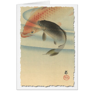 Koi Greeting Card