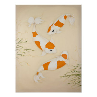 Koi Japanese Fishes Art Print