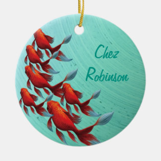 Koi Japanese Oriental Fish Christmas Ornament