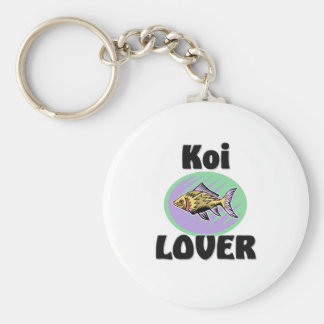 Koi Lover Basic Round Button Key Ring