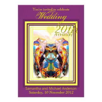 Koi Lovers Wedding Anniversary Party Invitation