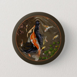 Koi Mermaid Button