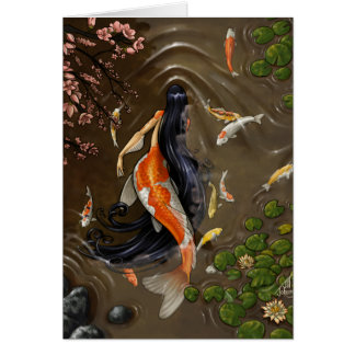 Koi Mermaid Card