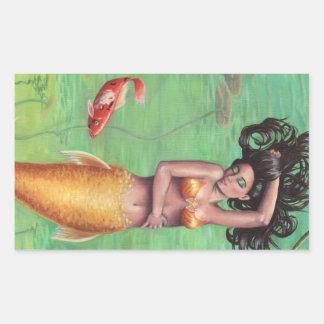 Koi Mermaid Sticker Koi Fish Sticker Mermaid Art