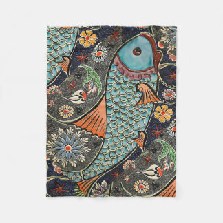 Koi Mosaic Fleece Blanket