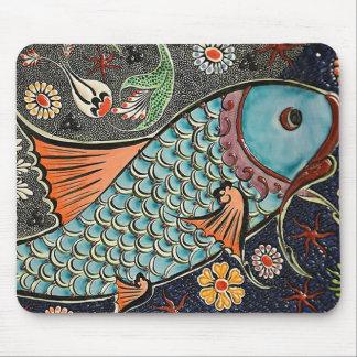 Koi Mosaic Mouse Mat