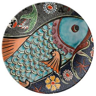 Koi Mosaic Plate
