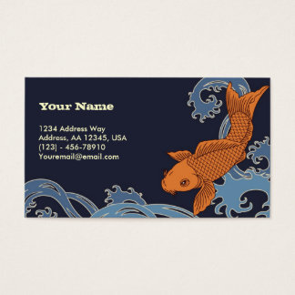 Koi (Navy Background) Business Card
