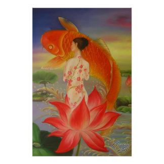 Koi Painting by Premium Karl Poster