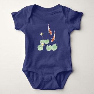Koi Pond Blue Baby Bodysuit