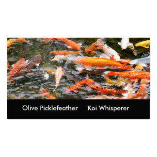 Koi pond business card templates