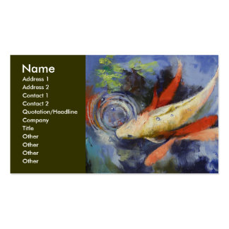 Koi Pond Business Card
