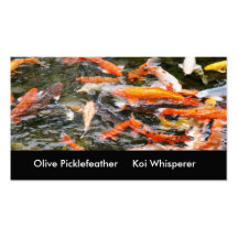 Koi pond business card templates