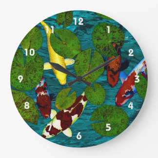 KOI POND Clock