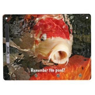 Koi Pond Dry Erase Message Boards