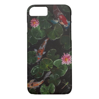 Koi Pond in the Moonlight iPhone 7 Case