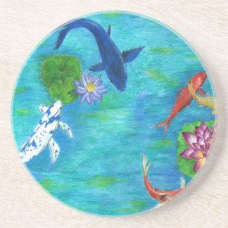 Koi pond original coaster