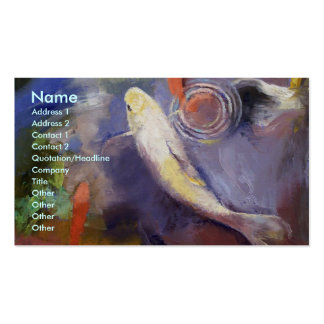 Koi Pond Painting Business Card Template