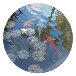 Koi Pond Plate