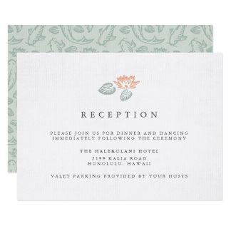 Koi Pond Reception Enclosure Card