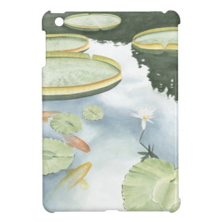 Koi Pond Reflection with Fish and Lilies Case For The iPad Mini