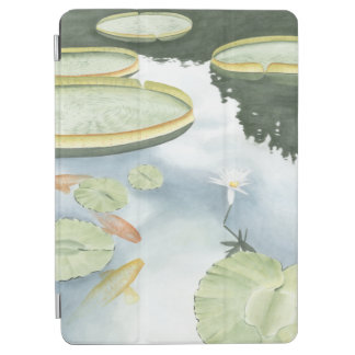 Koi Pond Reflection with Fish and Lilies iPad Air Cover