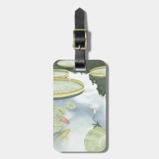 Koi Pond Reflection with Fish and Lilies Luggage Tag