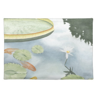 Koi Pond Reflection with Fish and Lilies Placemat