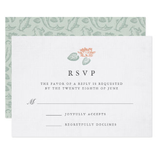 Koi Pond RSVP Card
