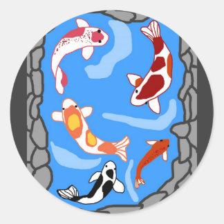 Koi pond stickers