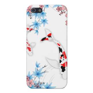 Koi Pond - white - Japanese Design iPhone Case iPhone 5/5S Cases