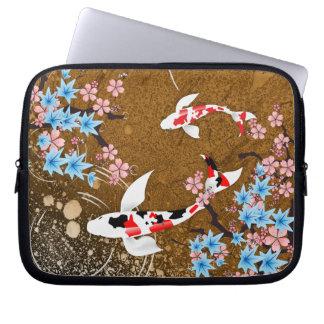 Koi Pond - wood - Japanese Design Laptop Sleeve