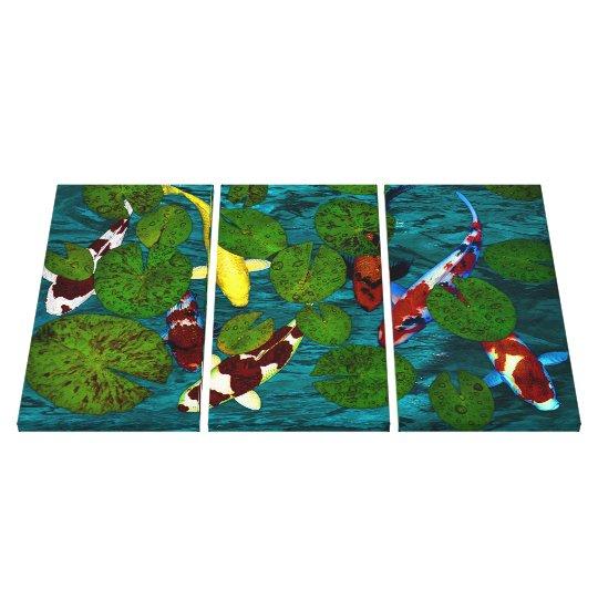 KOI POND Wrapped Canvas Print