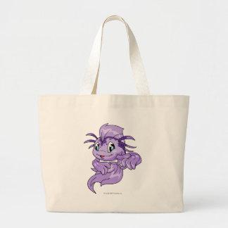 Koi Purple Large Tote Bag