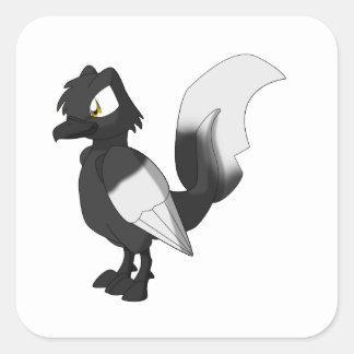 Koi Reptilian Bird - Hajiro Square Sticker