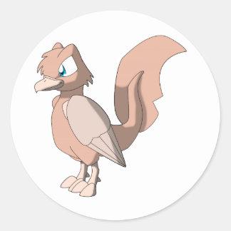 Koi Reptilian Bird - Mixed Breed 2 Round Sticker